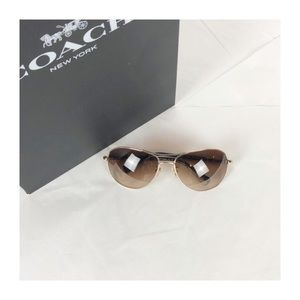 Coach Allegra brown and gold sunglasses